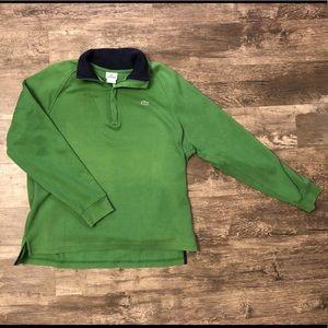 Lacoste Green Quarter Zip Pullover